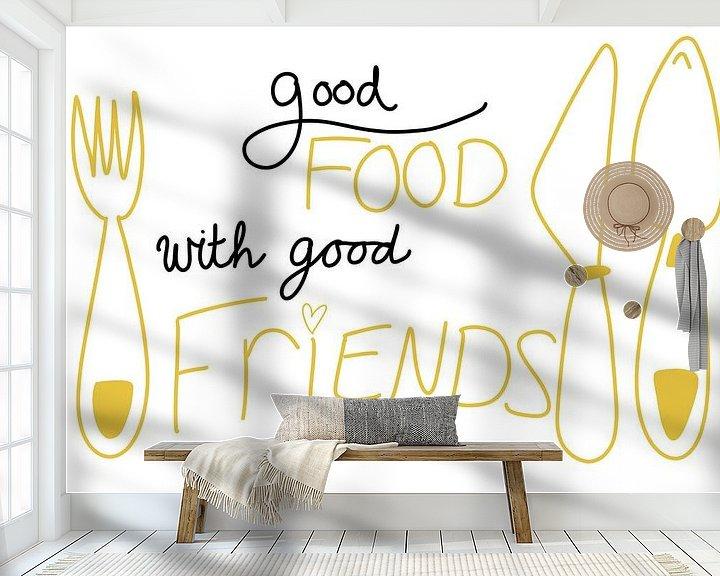 Sfeerimpressie behang: Lekker eten van MishMash van Heukelom