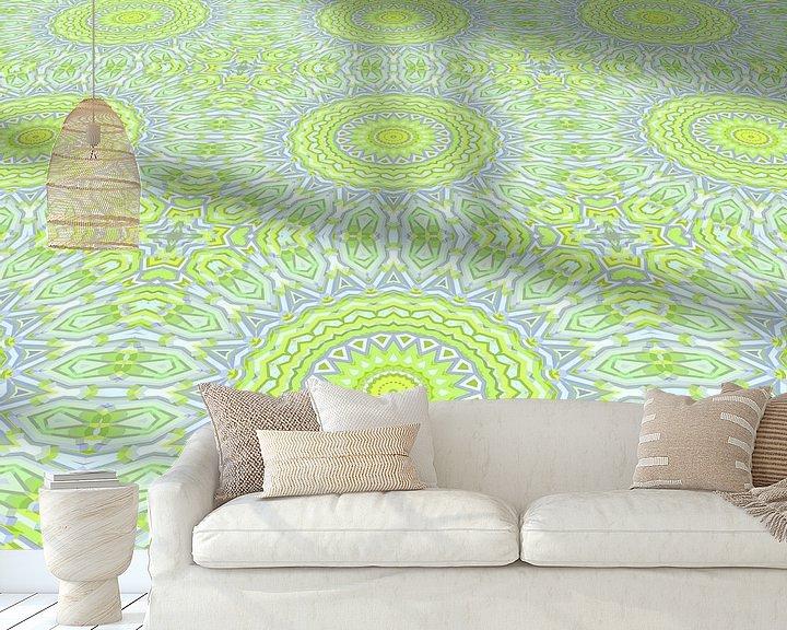 Sfeerimpressie behang: Mandala type 36 perspectief van Marion Tenbergen