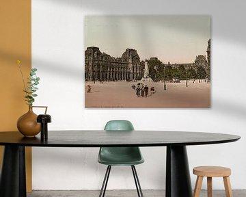 Le Louvre, Paris van Vintage Afbeeldingen