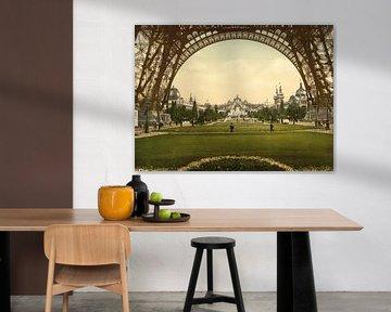 Champs de Mars, Exposition Universal, Paris van Vintage Afbeeldingen