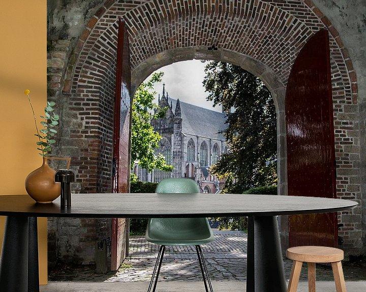 Sfeerimpressie behang: The castle of Leiden ... van Bert - Photostreamkatwijk