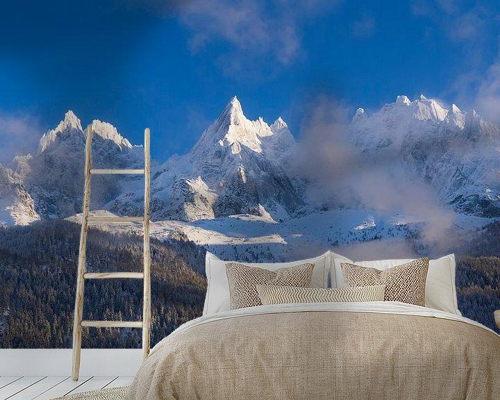Beispiel fototapete: Aiguilles de Chamonix von Menno Boermans