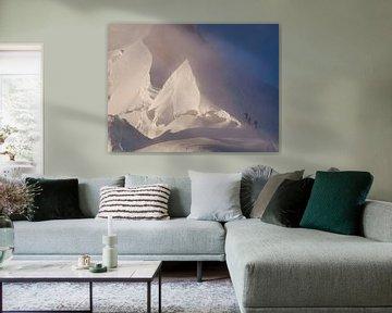 Alpinistes sur le Mont Blanc sur Menno Boermans