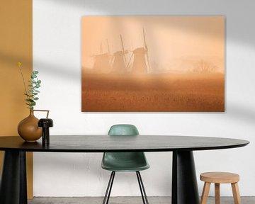 Kinderdijk Sonnenaufgang von Frank Peters