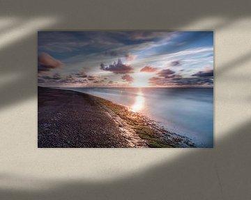 Zonsondergang over de Waddenzee van Frenk Volt