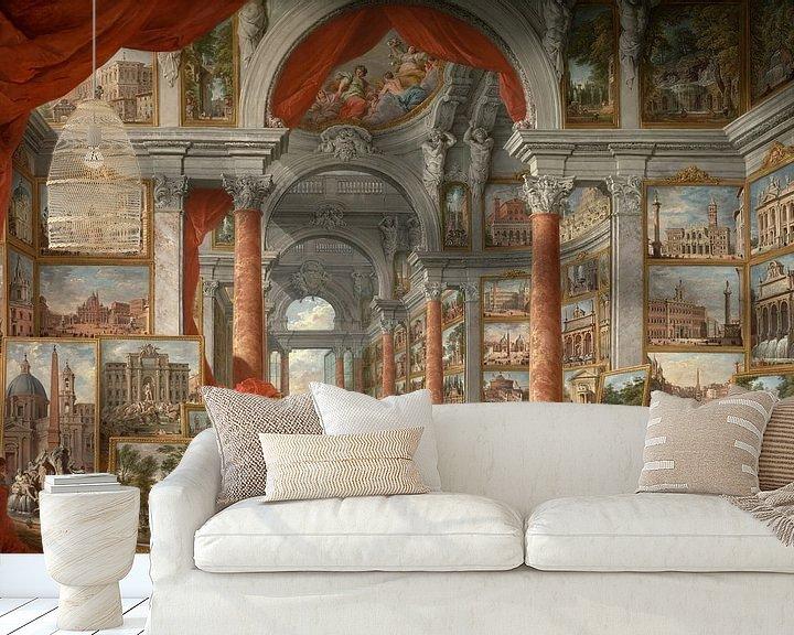 Beispiel fototapete: Modernes Rom, Giovanni Paolo Panini