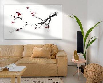 Kirschblüte van Jitka Krause
