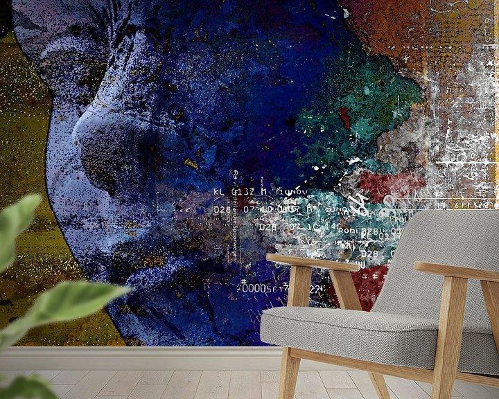 Beispiel fototapete: Blue face von PictureWork - Digital artist