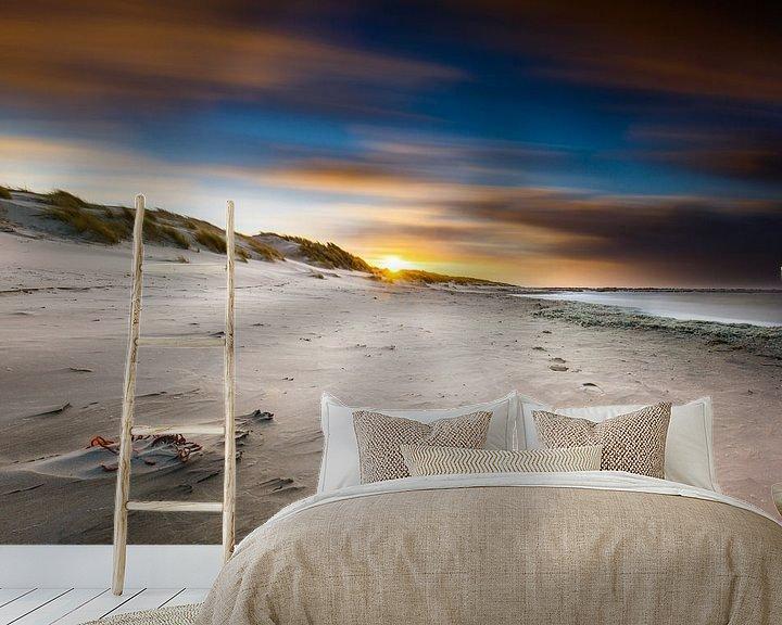 Sfeerimpressie behang: strand texel van Pim Leijen