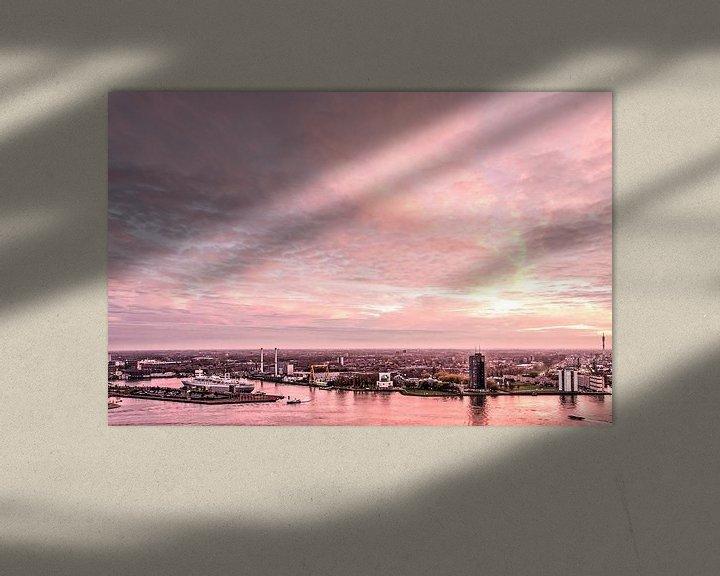 Sfeerimpressie: Zonsondergang op Zuid van Frans Blok