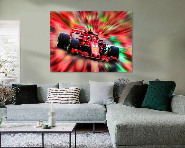 Beispiel: Kimi Räikkönen - Saison 2018 von Jean-Louis Glineur alias DeVerviers