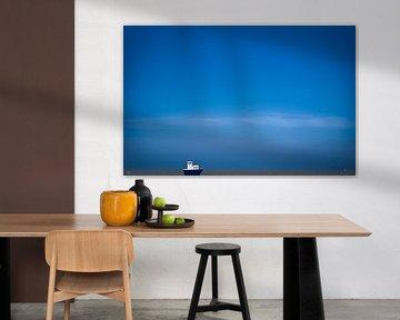 Blue boat von Steven De Baere