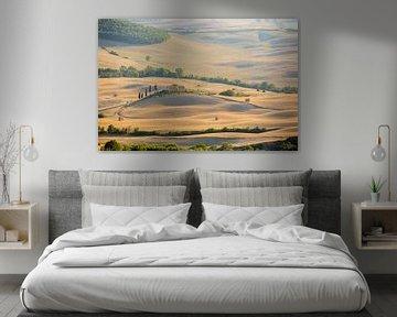 Tuscan farm on a hill van Gerhard Nel