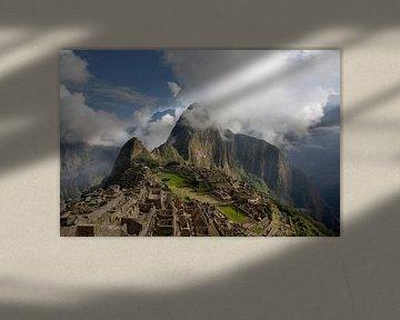 Panorama des Machu Picchu oder Machu Pikchu Panorama in Peru von Tjeerd Kruse