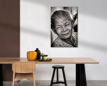 Bejaarde Vrouw sur Ton Bijvank