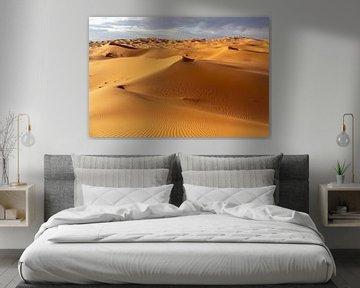 Wüste und blauer Himmel - Landschaft.  Marokko Afrika von Tjeerd Kruse