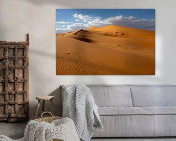 Wüsten und Sanddünen bei Sonnenaufgang, der Sahara, Afrika von Tjeerd Kruse