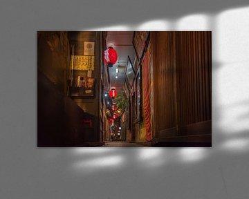 Typisch Japans steegje in Osaka van Celina Dorrestein