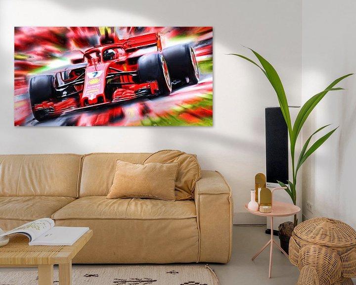 Beispiel: Kimi Räikkönen Season 2018 von Jean-Louis Glineur alias DeVerviers