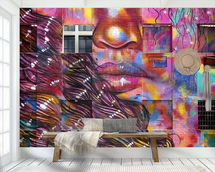 Beispiel fototapete: Graffiti gezicht. von Ton Bijvank