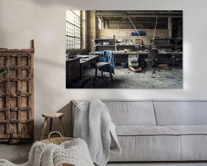 Sfeerimpressie: verlaten werkplaats van Kristof Ven