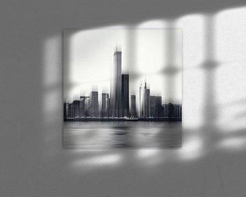 Rotterdam Skyline Abstract van Dirk Wüstenhagen