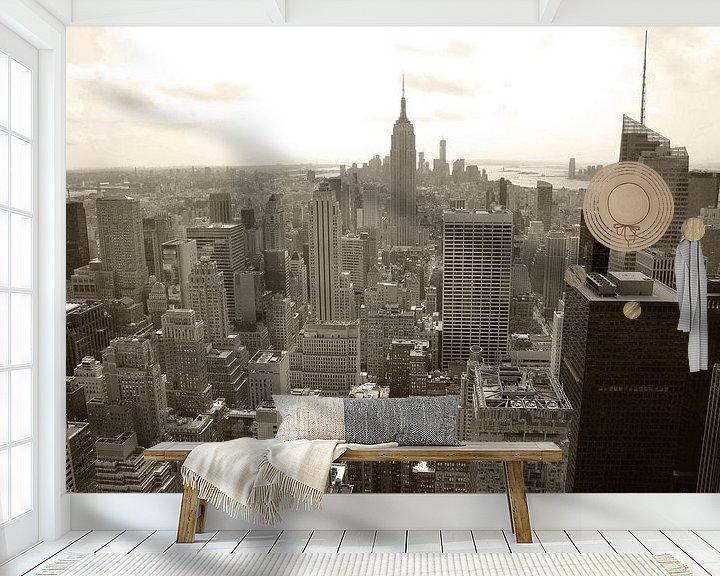 Sfeerimpressie behang: New York City View 1 van Arno Wolsink