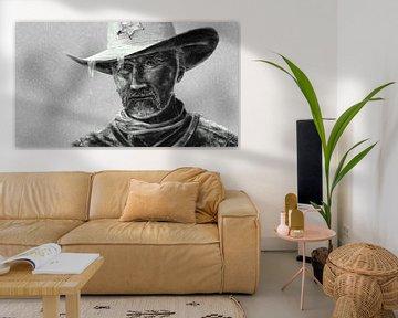 Cowboy Sheriff in regen van Jan Brons