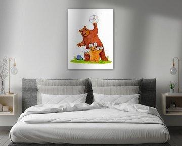 Beren met uilen von Lars Wilting