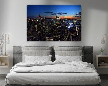 New York bij nacht van Arno Wolsink