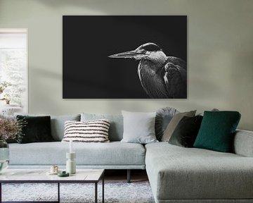 Reiher in schwarz und weiß von Elianne van Turennout