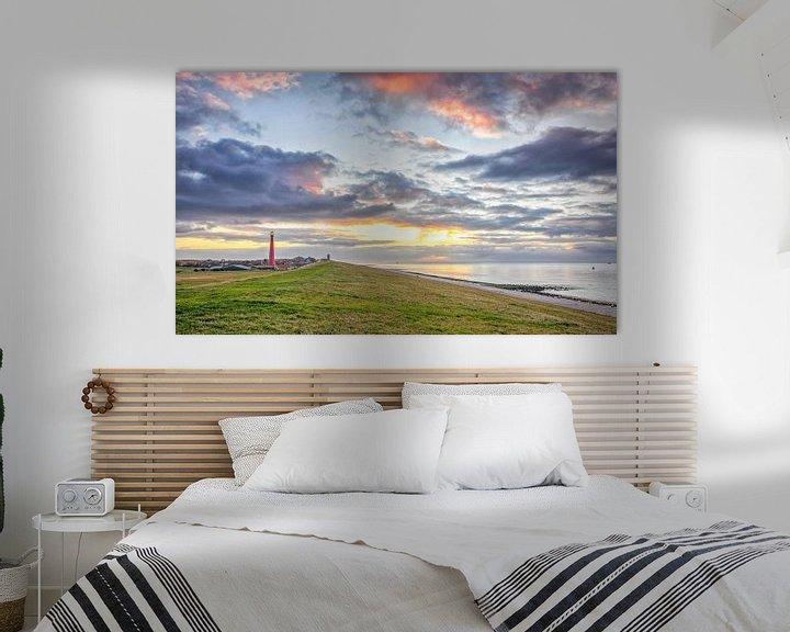 Sfeerimpressie: Zonsondergang Huisduinen, Den Helder / Sunset in Den Helder van Justin Sinner Pictures ( Fotograaf op Texel)