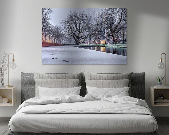Sfeerimpressie: Winter bij de Westersingel van Frans Blok
