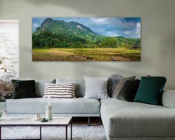 Panoramalandschaft Nordlaos von Rietje Bulthuis
