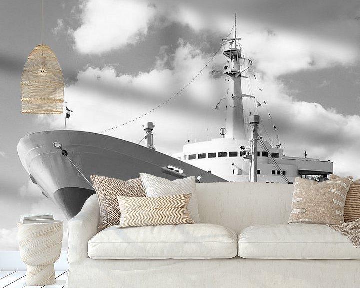 Sfeerimpressie behang: SS Rotterdam van scott van maurik