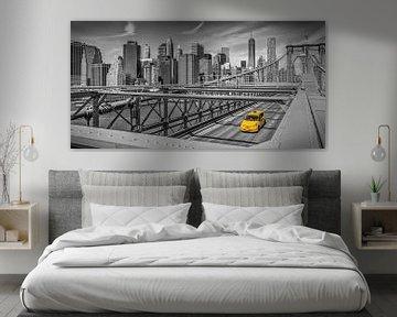 Urbane Impression von der Brooklyn Bridge   Panorama  von Melanie Viola