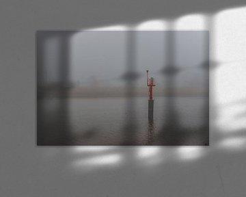 Mist over de rivier de IJssel