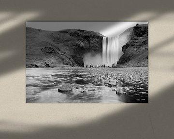 IJslandse waterval - Skógafoss von Marly Tijhaar