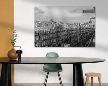 Javastraat vastgelegd in zwart/wit von Jeroen van Dijk