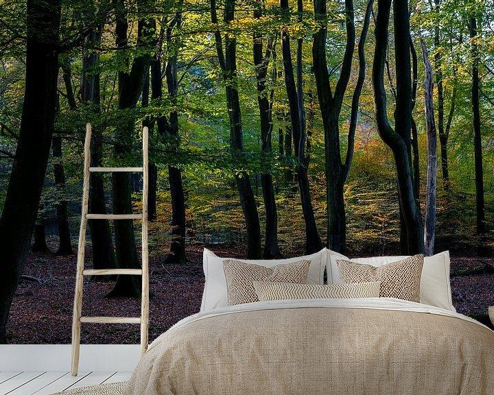 Sfeerimpressie behang: Herfstkleuren van Ingrid Aanen