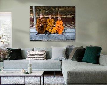 Kambodschas Königspalast 3 Mönche von eric piel