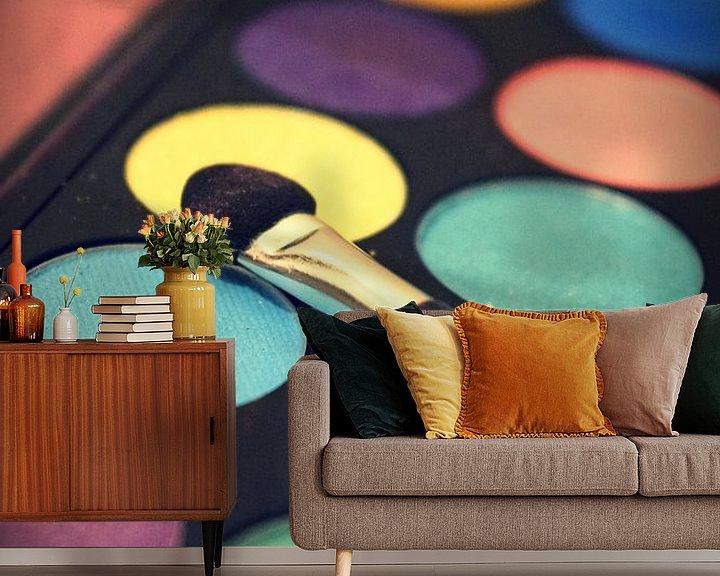 Sfeerimpressie behang: Kleurenpalet van Angela R.