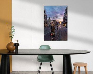 Zonsopkomst boven de Utrechtse Nobelstraat