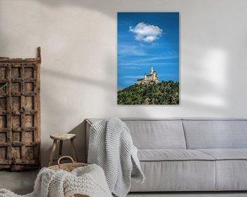 """Het kasteel """"Der Marksburg"""" aan de rivier de Rijn van Harrie Muis"""
