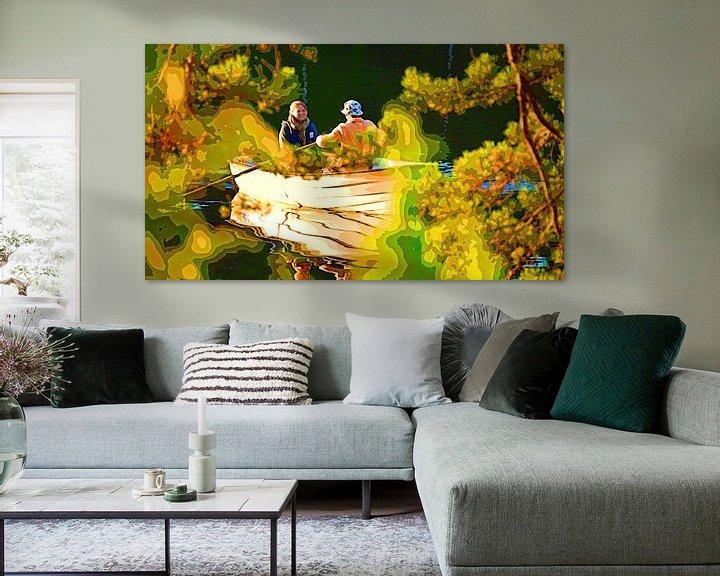 Beispiel: Junges Paar im Ruderboot von Leopold Brix