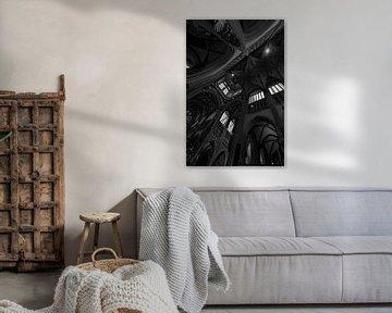 Sint-Janskathedraal Den Bosch, zwart-wit von Heino Minnema