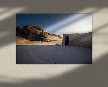 Bunker bei Sonnenuntergang von Kristof Ven