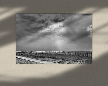 Die graue Küste in Noordwijk Niederlande von Doris van Meggelen