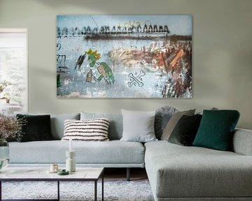 muur schildering van Dray van Beeck