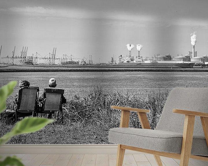 Sfeerimpressie behang: Siteseeing Hoek van Holland van Daan Overkleeft